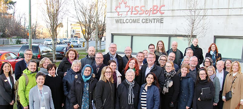 Swedish delegation group photo at ISSofBC Welcome Centre