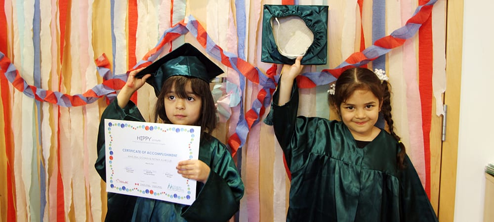 Young students in the HIPPY program graduate at ISSofBC Welcome Centre- Surrey