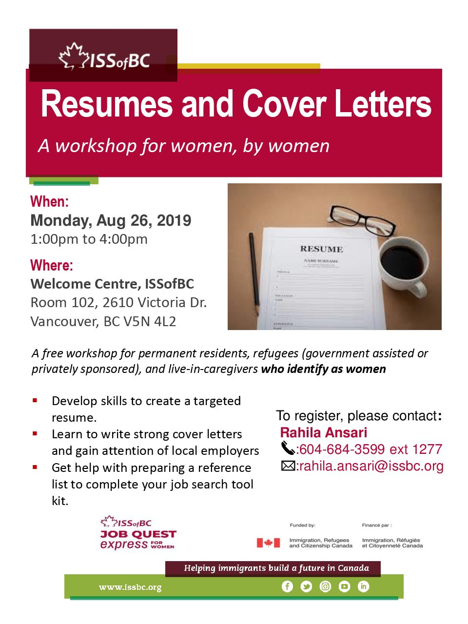 Resumes and Cover Letters Workshop | Career Development